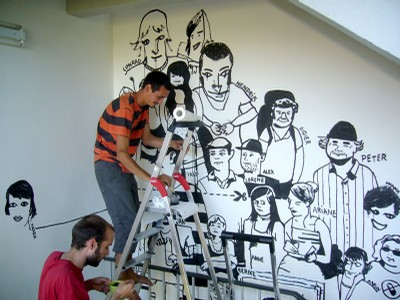 wall painting 1st floor – sylvain, didier