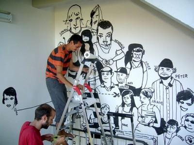 wall painting 1st floor – sylvain, didier